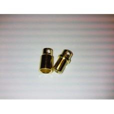 Gold connector 8mm pair